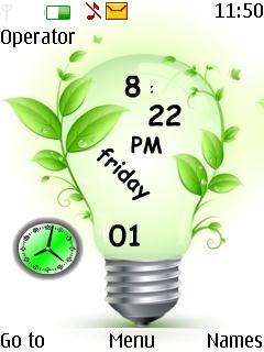 Bulb Dual Clock Nokia Theme Mobile Theme