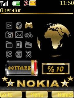 Nokia Gold Animated Theme Mobile Theme