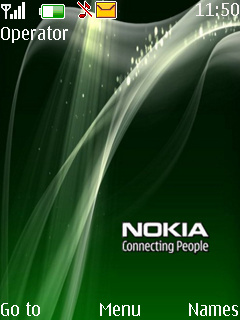 Nokia Green With Cool Theme Mobile Theme