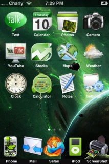 Green Nova Apple IPhone Theme Mobile Theme