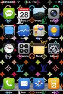 IZayco LV Colors Apple IPhone Theme Mobile Theme