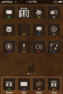 Leather Apple IPhone Theme Mobile Theme