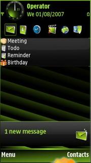 Green Design Nokia Theme Mobile Theme