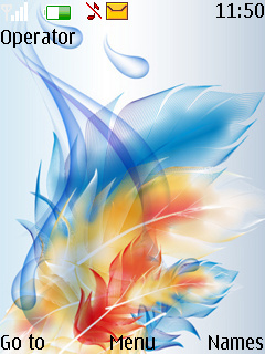 Abstract Feathers Theme Mobile Theme