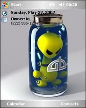 Botlled Alien Theme Mobile Theme