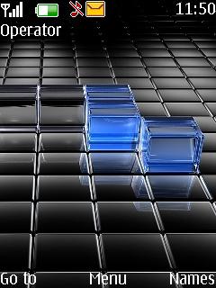 3D Blue Cubes Theme Mobile Theme