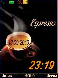 Espresso Clock Theme Mobile Theme