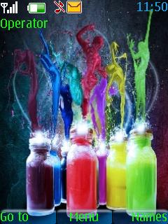 Colors Dancing Theme Mobile Theme