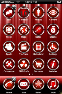 Red Chrome Apple IPhone Theme Mobile Theme