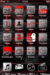 Scrawl IPhone Theme Mobile Theme
