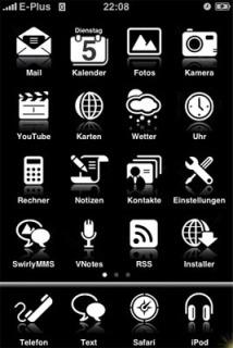 Simple Black Mobile Theme