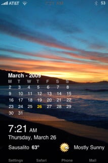 Time Weather Calendar Theme Mobile Theme