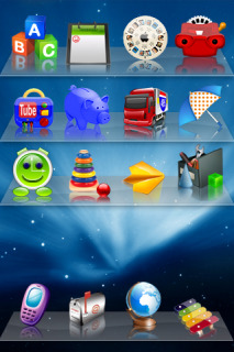 Toys On Shelves Theme Mobile Theme