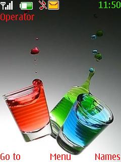 Glass 3D Theme Mobile Theme