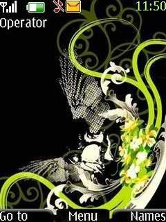 Green Abstract Theme Mobile Theme
