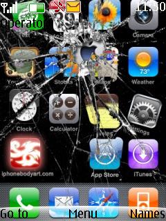 Broken Screen Theme Mobile Theme