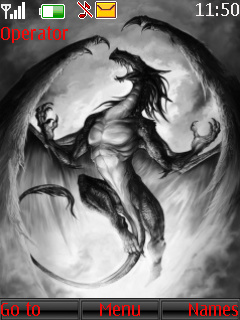 Dragon Sketch Theme Mobile Theme