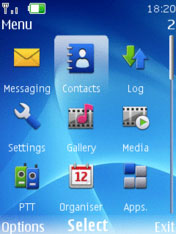 Nokia Ovi Blue Theme Mobile Theme