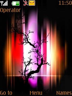 Abstract Tree Theme Mobile Theme