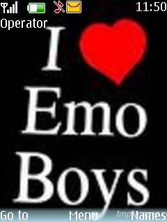 Emo Boys Theme Mobile Theme