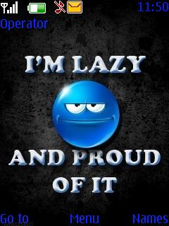 I M Lazy Theme Mobile Theme