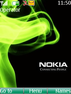 Nokia Green Smoke Theme Mobile Theme