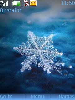 Snow Flake Theme Mobile Theme