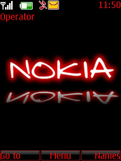 Black And Red Nokia Theme Mobile Theme