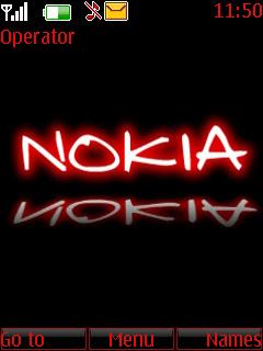 Black And Red Nokia Theme Mobile Theme