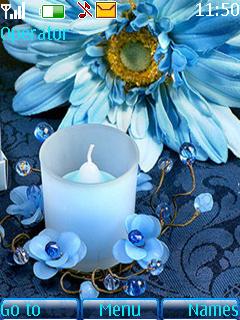 Blue Candle Theme Mobile Theme