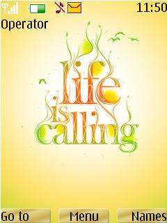 Life Is Calling Theme Mobile Theme