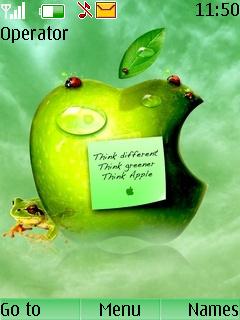 Think Apple Nokia Theme Mobile Theme
