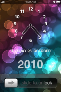 Bubble Clock Theme Mobile Theme