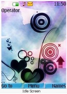 Love Abstract Theme Mobile Theme