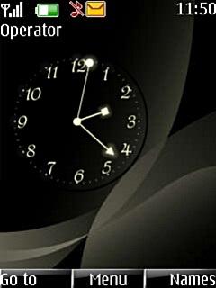 Abstract Clock Nokia Theme Mobile Theme