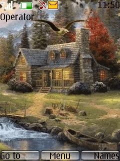 Animated 3d House Theme Mobile Theme