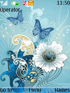 Blue Butterfly Mobile Theme