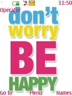 Dont Worry Be Happy  Mobile Theme
