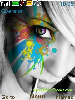 Paint Eye Mobile Theme