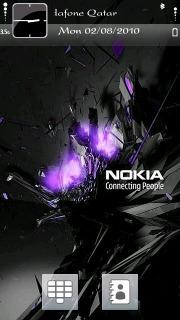 Nokia Blast Purpel Mobile Theme