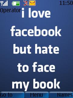 Face Book  Mobile Theme