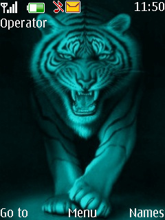 Neon Tiger Mobile Theme