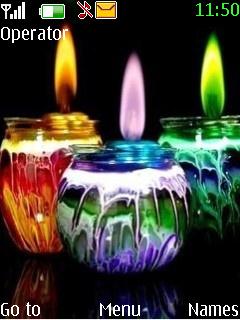 Colour Candles Mobile Theme