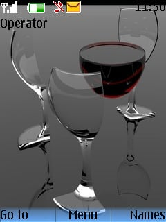 Wine Glass Mobile Theme