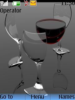 Wine Glass Mobile Theme