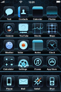 Black Apps Mobile Theme
