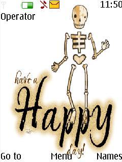 Skeleton Day Mobile Theme