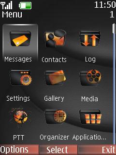 Smoke Girl Mobile Theme