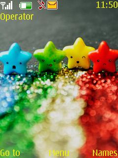Color Stars Mobile Theme