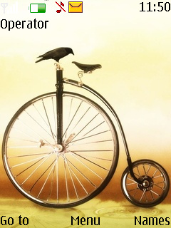 Crow On A Bicycle Mobile Theme